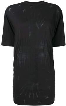 Fausto Puglisi printed longline T-shirt