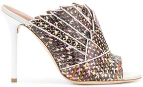 Malone Souliers snake-effect mules