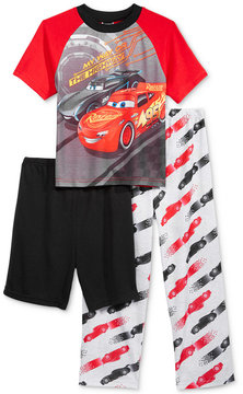 Disney 3-Pc. Cars Lightning McQueen & Jackson Storm Pajama Set, Little Boys (4-7) & Big Boys (8-20)