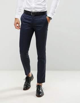 Farah Smart Skinny Tuxedo Suit Pants In Jacquard