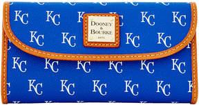 Dooney & Bourke Kansas City Royals Large Continental Clutch - BLUE - STYLE