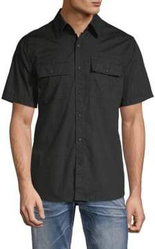 Affliction Justify Cotton Button-Down Shirt