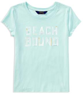 Polo Ralph Lauren Girls' Beach Bound Graphic Tee - Big Kid