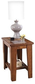 Signature Design by Ashley Toscana Chair Side End Table Rustic Brown