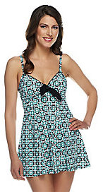Fit 4 U As Is Thighs Retro Vintage Tie Front Swim Dress