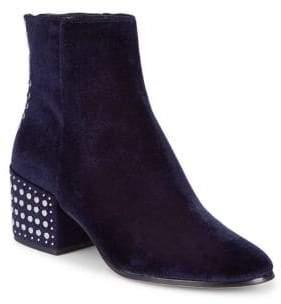 Dolce Vita Mazey Studded Velvet Booties