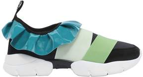 Emilio Pucci Fabric & Leather Slip On Sneakers