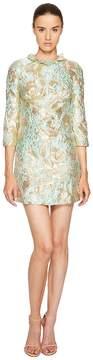 Francesco Scognamiglio Long Sleeve Round Neck Jacquard Dress Women's Dress