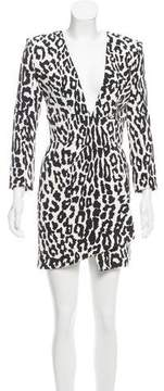 Alexandre Vauthier Leopard Printed Mini Dress