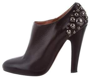 Alaia Studded Pointed-Toe Booties
