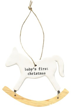 Mud Pie Baby's First Christmas Rocking Horse Ornament Accessories Travel