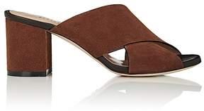 Barneys New York Women's Suede Crisscross-Strap Mules