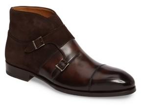 Magnanni Men's Octavian Double Monk Strap Boot