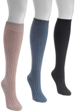 Muk Luks Cable Knee High Socks (Women's)