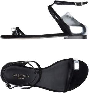 Grey Mer Toe strap sandals