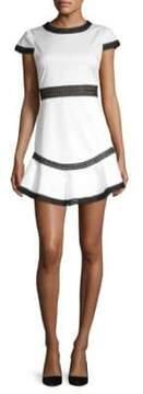 Alice + Olivia Rapunzel Flounce Mini Dress