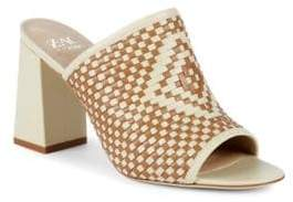 Zac Posen Ivy Woven Leather Mules