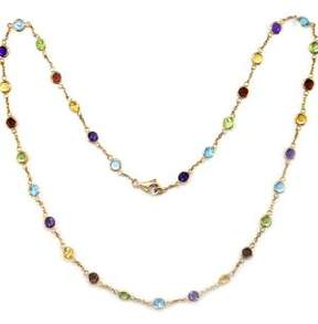 Effy 14 Kt. Yellow Gold Multicolor Station Necklace