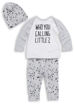 Petit Lem Little Boy's Three-Piece Raglan Top, Printed Pants and Hat Set