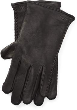 Ralph Lauren Corset-Stitched Leather Gloves