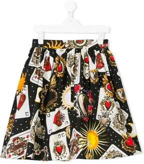 Dolce & Gabbana playing card print skirt
