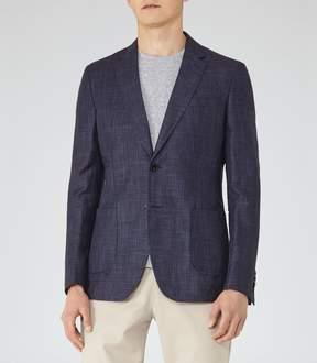 Reiss Montana Linen And Wool Blazer