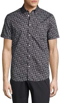 Ben Sherman Men's Large Paisley Print Sportshirt