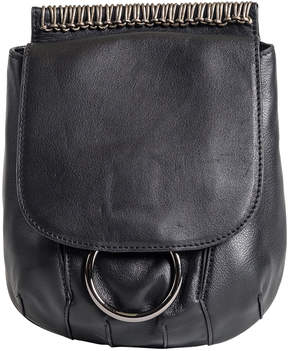 Christopher Kon Black Webbing-Detail Small Leather Crossbody Bag