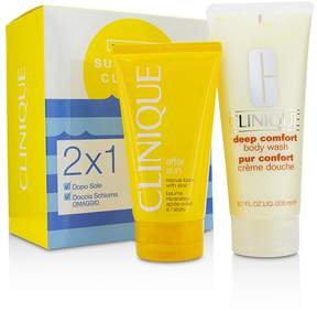 Clinique Summer In Set: Deep Comfort Body Wash 200ml/6.7oz + After Sun Rescue Balm 150ml/5oz