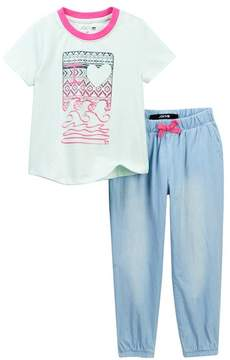 Joe's Jeans Graphic Tee & Joggers Set (Toddler Girls)