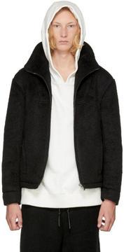 D.gnak By Kang.d Black High Neck Short Jacket