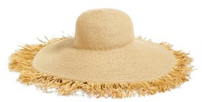 Eric Javits Women's Fringed Squishee Packable Floppy Hat - Beige
