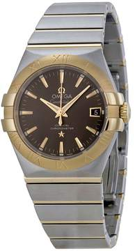 Omega Constellation Grey Dial Steel and 18kt Yellow Gold Men's Watch