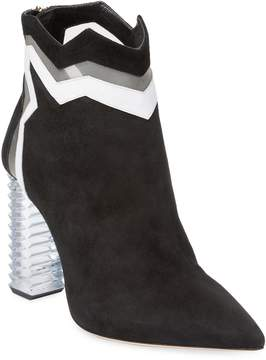 Aperlaï Women's Pointed High Heel Bootie
