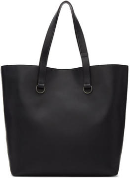 Maison Margiela Black Leather Shopping Tote