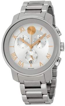 Movado Bold Chronograph Silver Dial Stainless Steel Unisex Watch 3600205