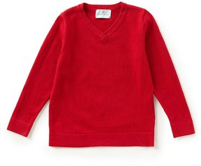 Class Club Little Boys 2T-7 V-Neck Solid Sweater