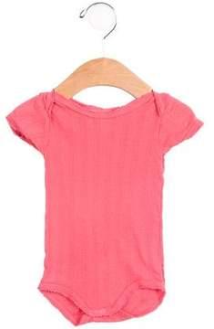 Petit Bateau Girls' Open Knit Short Sleeve All-In-One