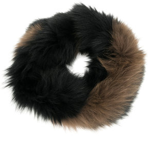 Yves Salomon round collar scarf