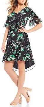 Isaac Mizrahi Imnyc IMNYC Smocked Short Sleeve Blouson Dress