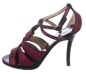 Proenza Schouler Sequin Bow Sandals