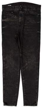 R 13 Cropped Drop Jeans