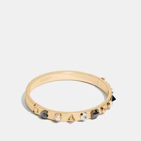 COACH HINGED BANGLE - f54565 - GOLD/MULTICOLOR