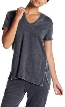 Alternative Side Slit Short Sleeve Hoodie