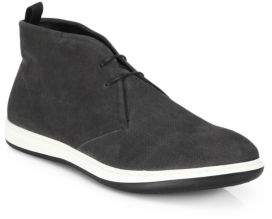 Giorgio Armani Perforated Suede Chukka Sneakers