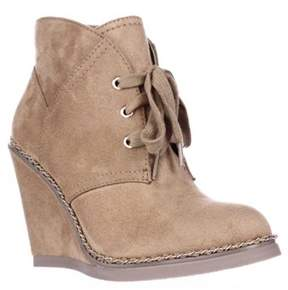Zigi Soho Karline Wedge Chain Booties, Camel.
