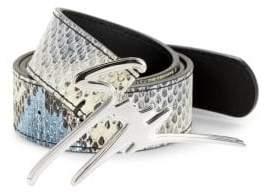 Giuseppe Zanotti Logo Leather Belt