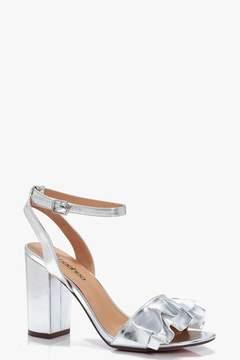 boohoo Frill Detail Block Heels