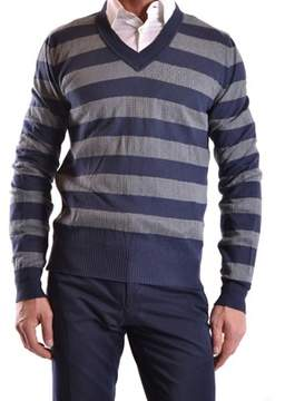 Richmond Men's Blue Cotton Sweater.