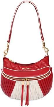 Miu Miu Small Two Tone Leather Shoulder Bag